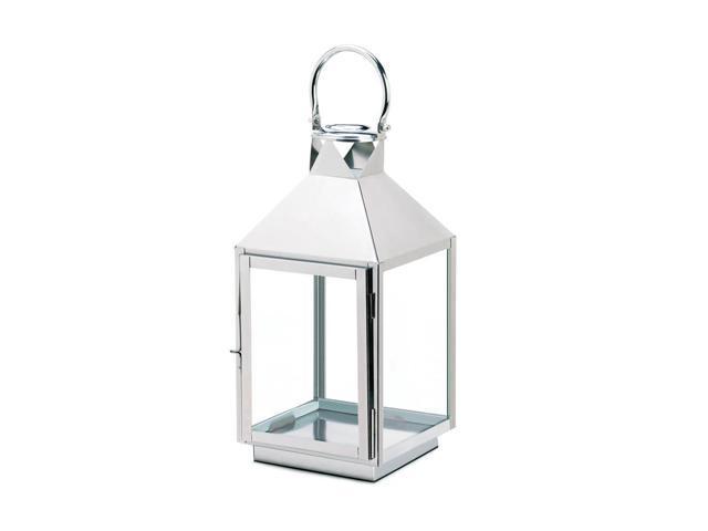 Koehler Home Kitchen Decorative Gift Dapper Large Stainless Seel Lantern