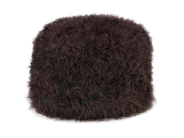Koehler Home Kitchen Decorative Gift Brown Pouf Ottoman