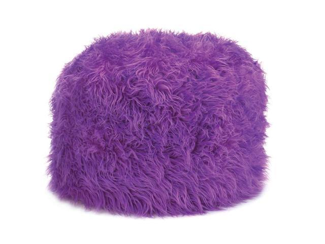 Koehler Home Kitchen Decorative Gift Fuzzy Orchid Pouf Ottoman