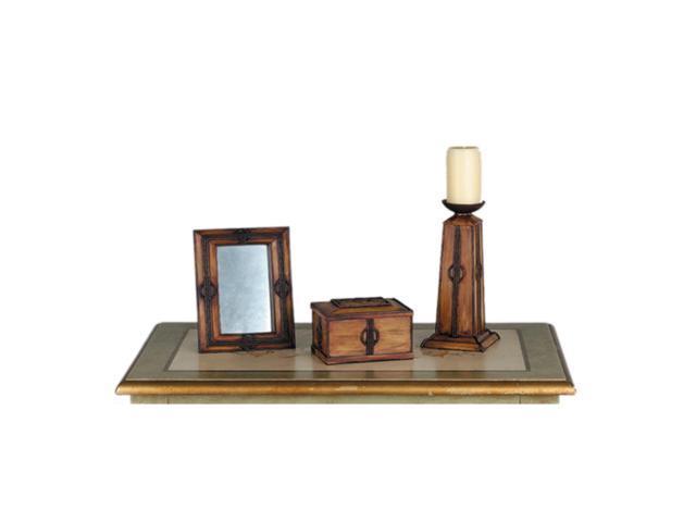 Meyda 81193 Parker Poppy Gift Candle Holder - Wood