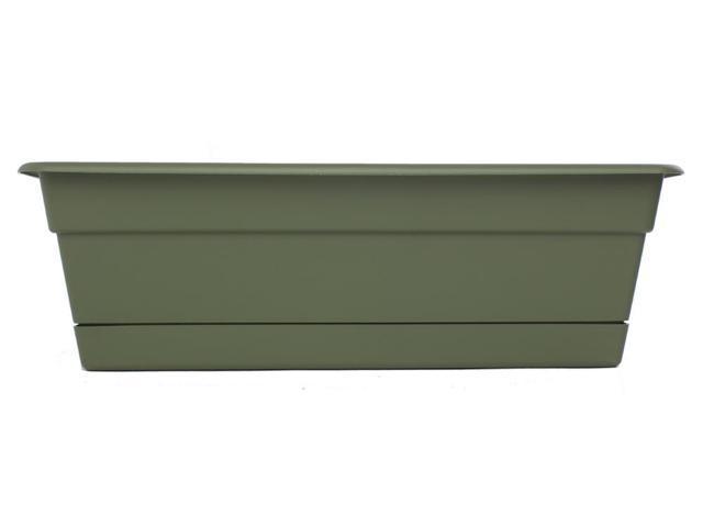 Bloem 24in Dura Cotta Window Box Living Green - DCBT24-42