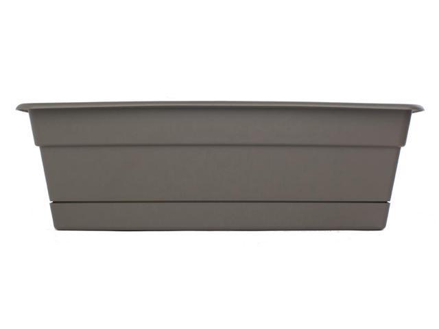 Bloem 30in Dura Cotta Window Box Peppercorn - DCBT30-60