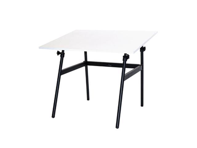 Generic Berkeley Classic Black Base Table with White 30 x 42
