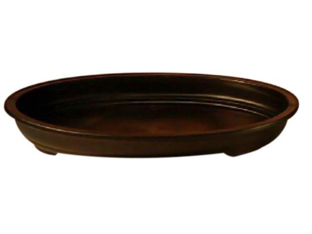 Bonsaiboy Black Humidity/Drip Bonsai Tray/Bonsai Pot - Oval 17.0