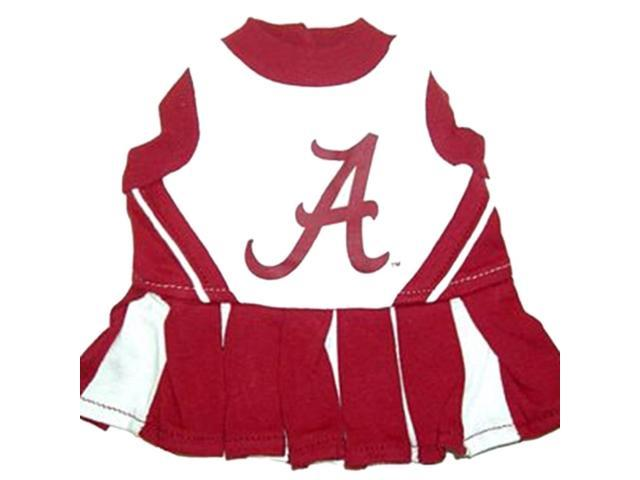 Pets First Sports Team Logo Alabama Cheerleader Dog Dress