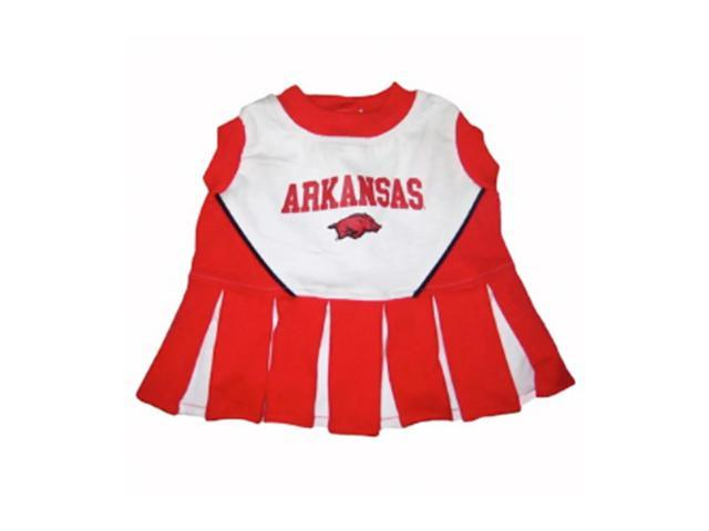 Pets First Sports Team Logo Arkansas Cheerleader Dog Dress Xtra Small