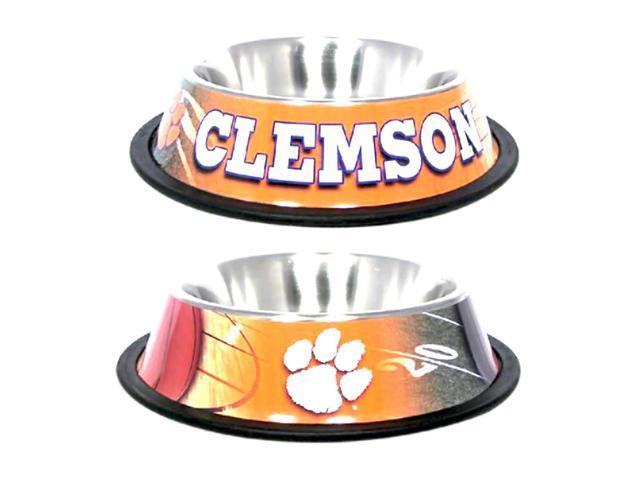 Hunter Sports Team Logo Clemson Dog Bowl-Stainless