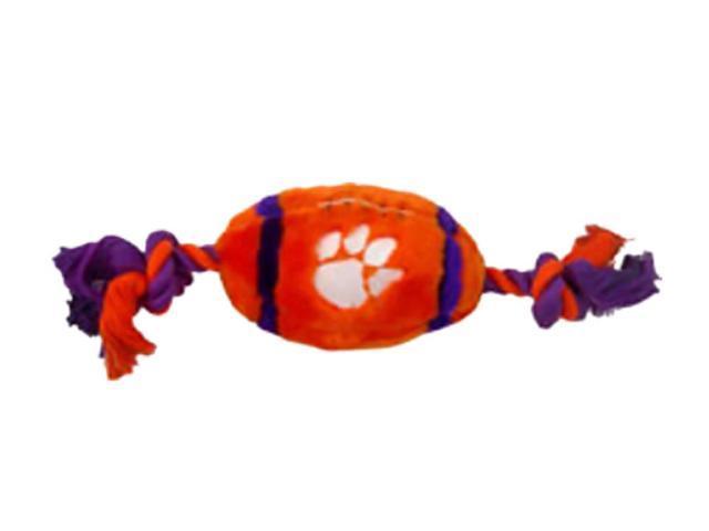 Pets First Sports Team Logo Clemson Plush Football Dog Toy