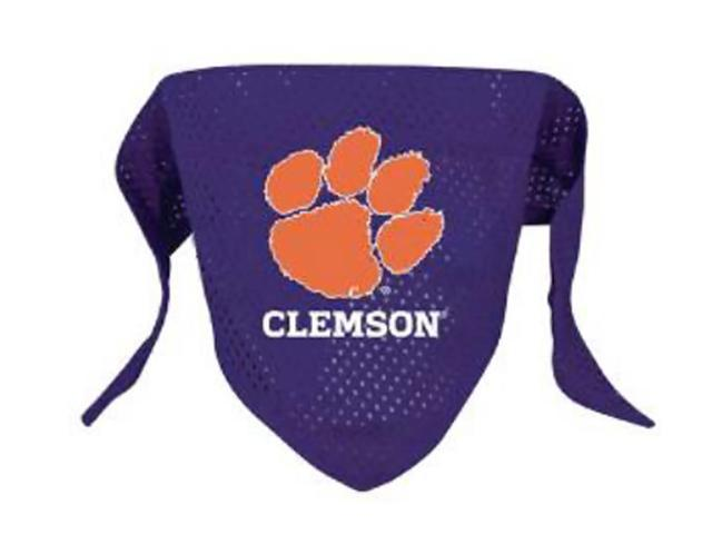 Hunter Sports Team Logo Clemson Dog Bandana-Mesh Small