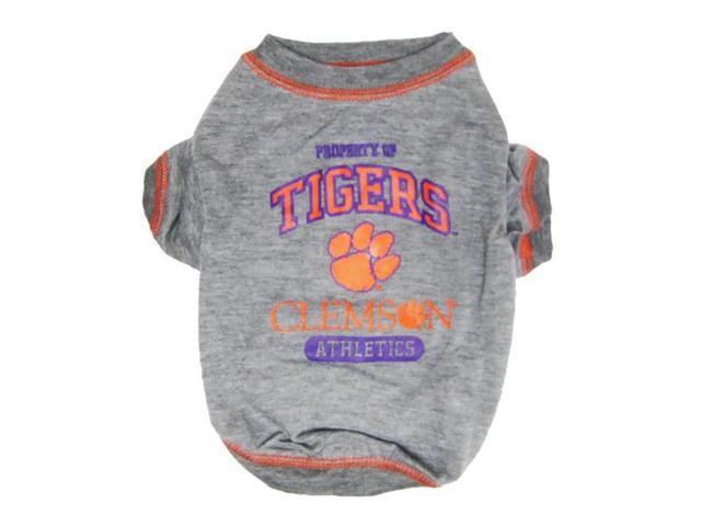 Pets First Sports Team Logo Clemson Dog Tee Shirt Small