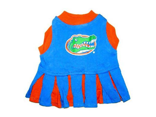 Pets First Sports Team Logo Florida Gators Cheerleader Dog Dress Small