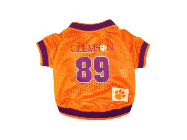 Pets First Sports Team Logo Clemson Dog Jersey Xtra Small
