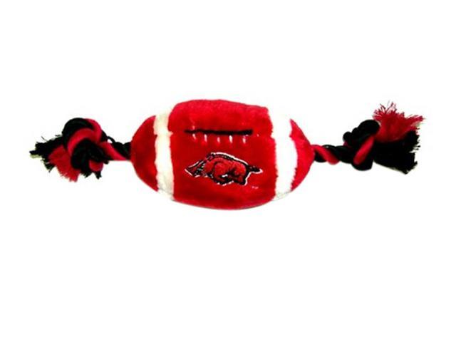 Pets First Sports Team Logo Arkansas Plush Football Dog Toy