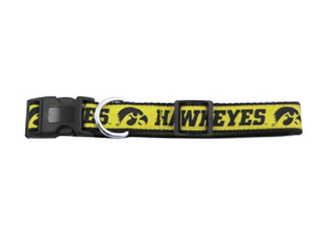 Doggienation Small Pet Animal Comfortable Iowa Hawkeyes Dog Collar-Ribbon Small