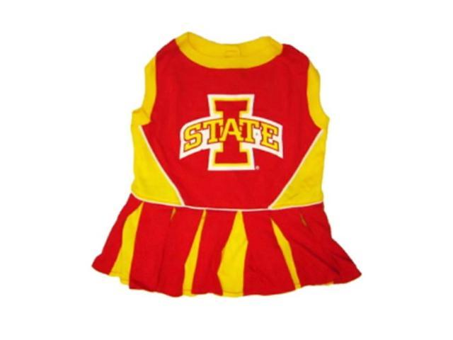Pets First Sports Team Logo Iowa State Cheerleader Dog Dress Medium