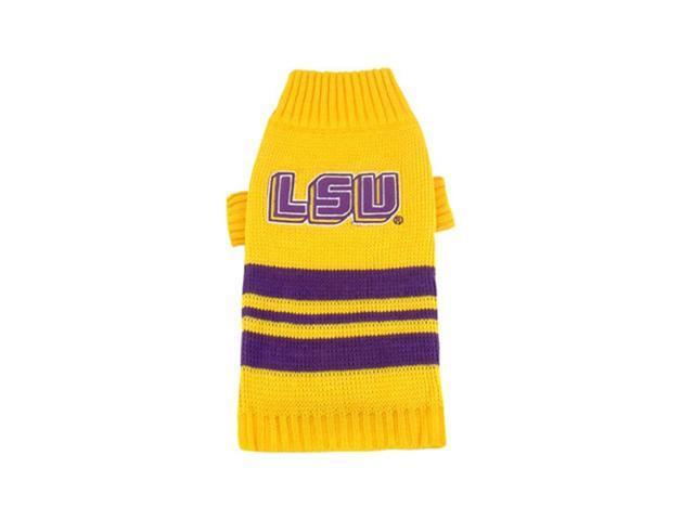 Pets First Sports Team Logo LSU Tigers Dog Sweater Large
