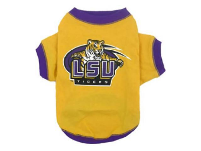 Pets First Sports Team Logo LSU Tigers Dog Tee Shirt Xtra Small