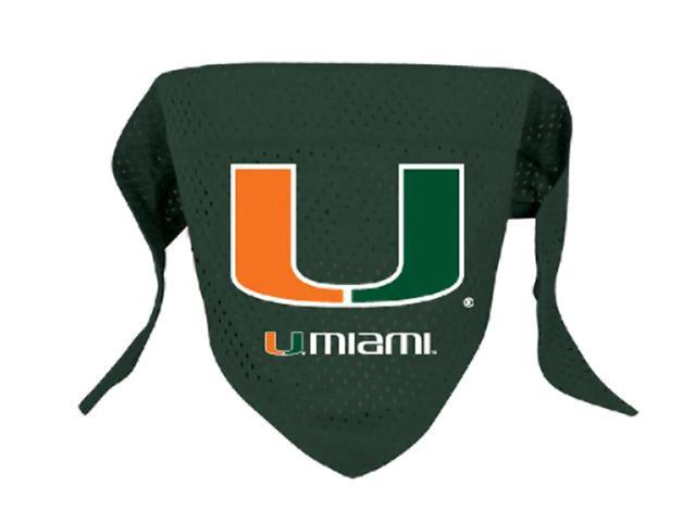 Hunter Sports Logo Design Pet Animal Miami Hurricanes Dog Bandana-Mesh Large