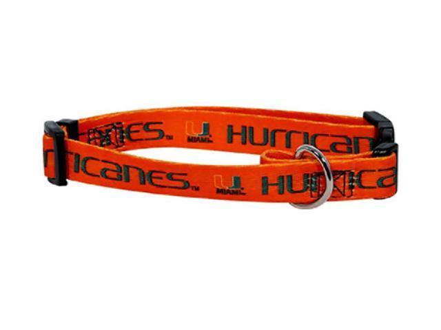 Hunter Sports Team Logo Miami Hurricanes Dog Collar Small
