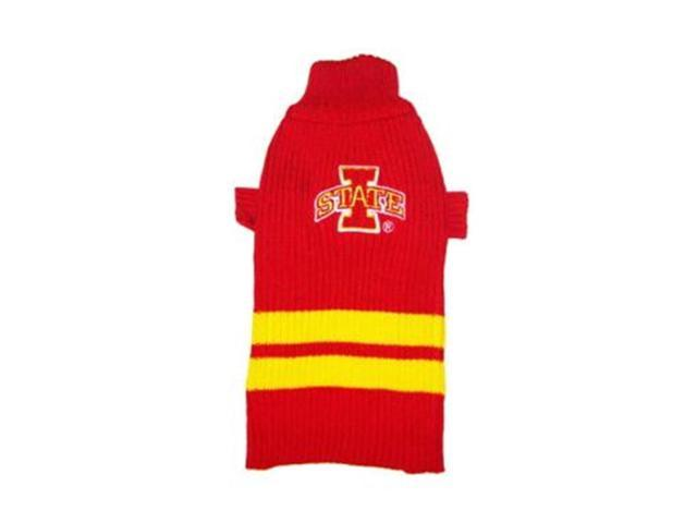 Pets First Sports Team Logo Iowa State Dog Sweater Medium