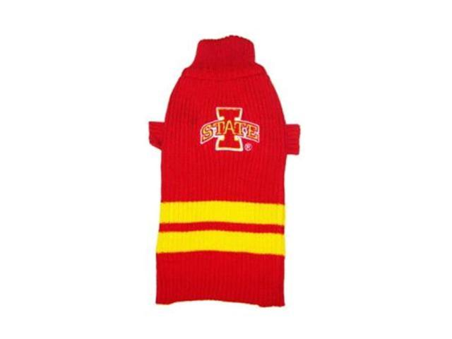 Pets First Sports Team Logo Iowa State Dog Sweater Large