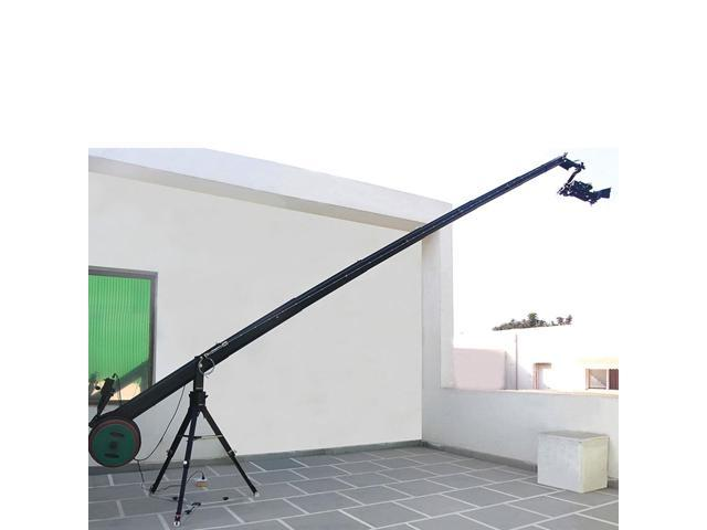 Proaim KITE-22 Ultimate Package (Proaim 22ft Octagonal Telescopic Jib Arm Crane with Heavy Duty Stand (HD-STD), 3 Axis Dutch Roll Pan & Tilt Head & D-33 Camera Dolly)
