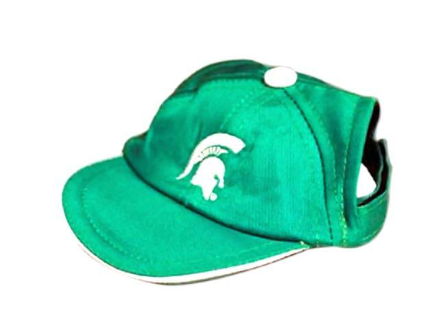 Doggination Sports Team Logo Design Pet Animal Michigan State Dog Cap Large