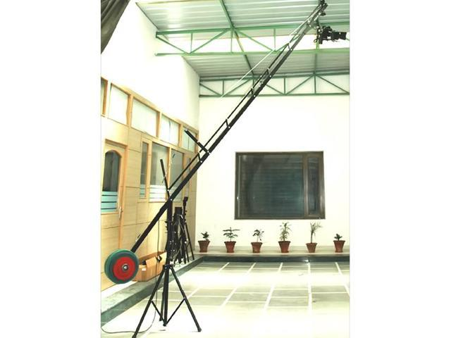 PROAIM 18ft. Jib Arm with Jr. Pan-Tilt Head, Jib Stand & LCD Arm supporting cameras weighing up to 15lbs