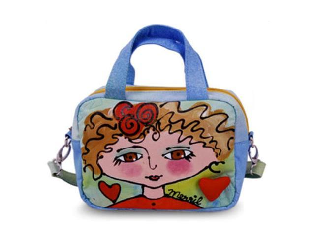 Bright Bags BrightFaces Blond Girl Small Shoulder Tote Bag