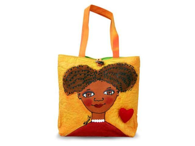 Bright Bags BrightFaces Frizzy Large Tote Bag