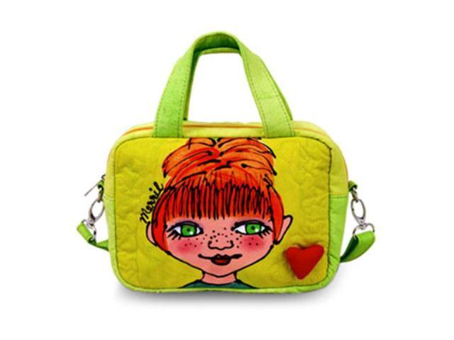 Bright Bags BrightFaces Green Eyes Small Shoulder Tote Bag