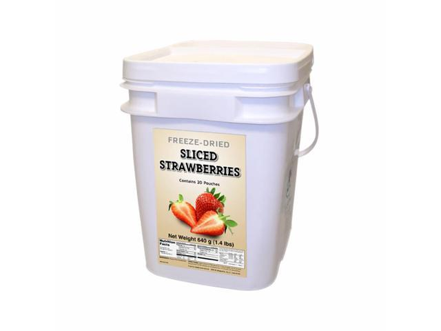 Food For Health International Outdoor Travel Emergency Freeze Dried Strawberries 160 Servings