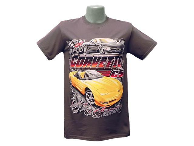 B Elite C5 Corvette Legends are Made Tee Charcoal Small