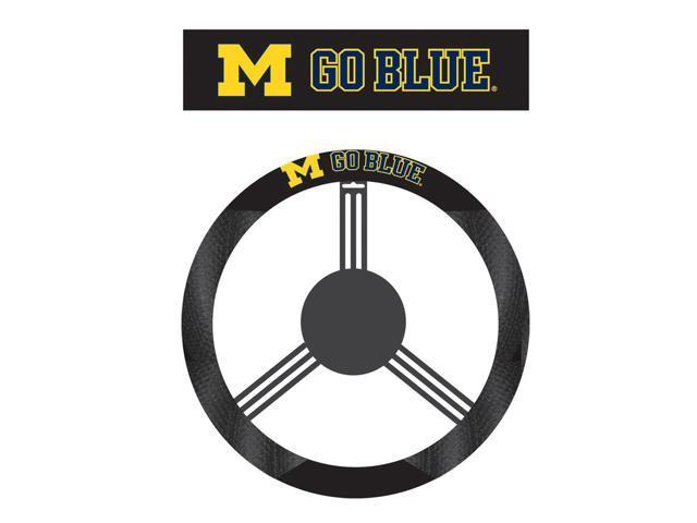 Fremont DieMichigan Wolverines Poly-Suede Steering Wheel Cover