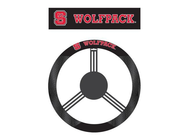 Fremont DieN. Carolina State Wolfpack Poly-Suede Steering Wheel Cover