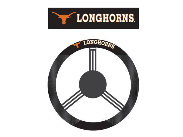 Fremont DieTexas Longhorns Poly-Suede Steering Wheel Cover