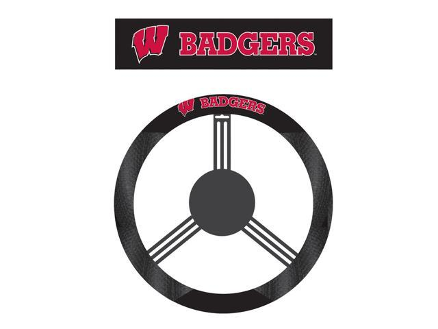 Fremont DieWisconsin Badgers Poly-Suede Steering Wheel Cover