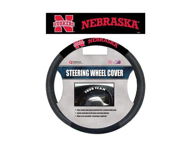 Fremont DieNebraska Cornhuskers Poly-Suede Steering Wheel Cover