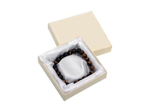 Premium Connection Gift Elegant Wrist Tiger Eye Stretch Bracelet Box