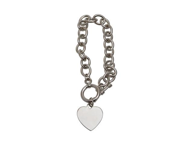 Premium Connection Elegant Wrist Tag Toggle Heart Bracelet In Pouch