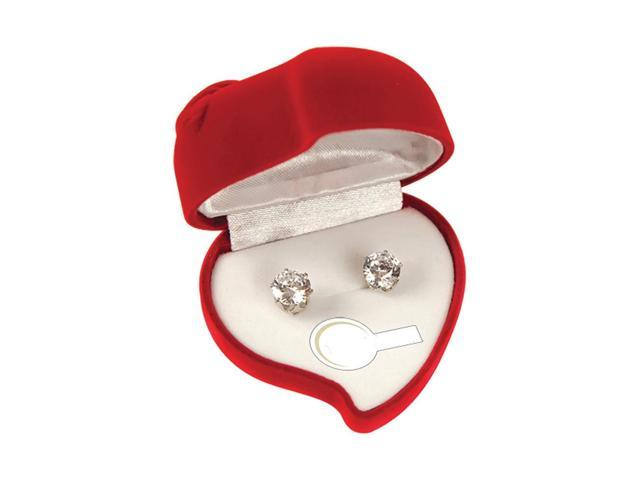 Premium Connection Girls Fashion Gift Accessories Heart Shaped 2 Ct Cz Earrings