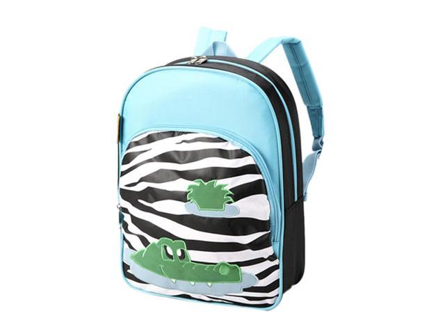 D and N Kids School Daycare Journey Zebra Crocodile Backpack Shoulder Bag 13H x 10W x4D