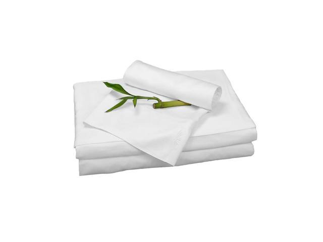 Bedvoyage Home Decorative Bedding Sheet Set, Twin - White
