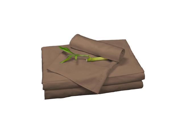 Bedvoyage Home Decorative Bedding Sheet Set, Queen - Mocha