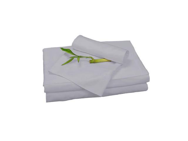 Bedvoyage Home Decorative Bedding Sheet Set, Queen - Platinum