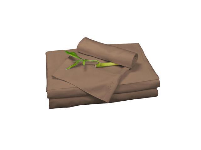 Bedvoyage Home Decorative Bedding Sheet Set, King - Mocha