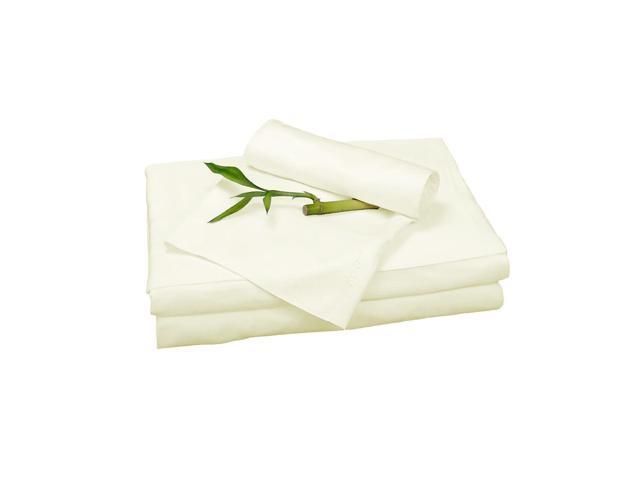 Bedvoyage Home Decorative Bedding Sheet Set, Cal King - Ivory