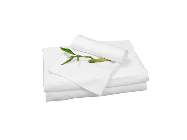 Bedvoyage Home Decorative Bedding Sheet Set, Split King - White