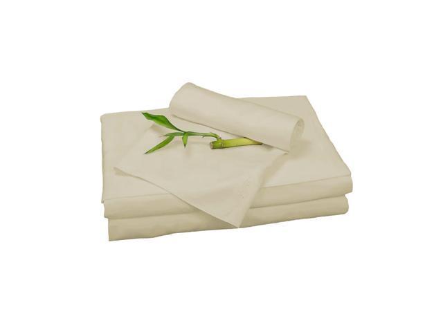 Bedvoyage Home Decorative Bedding Sheet Set, Split King - Champagne