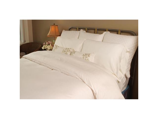 Bedvoyage Home Bedroom Decorative Duvet Cover, Twin - White / White [Reversible]